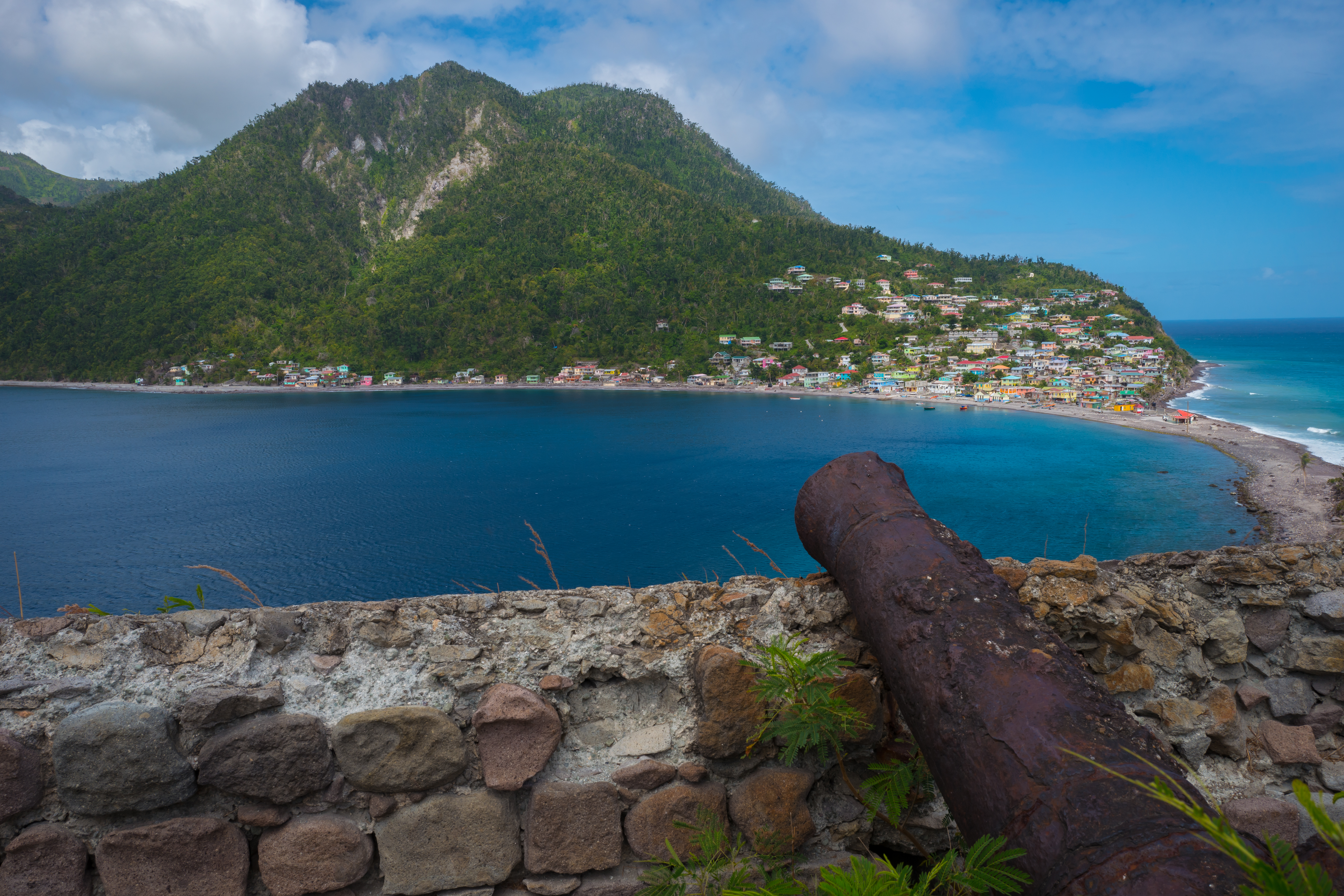 The small village of Scotts Head on the southern tip of Dominica where Maria first made landfall on September 18, 2017.